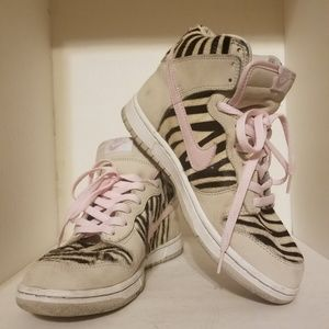 Nike Dunks Hi Zebra Stripe